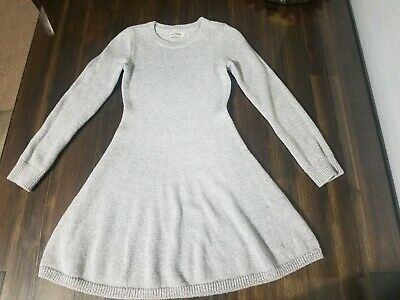 Abercrombie Kids silver gray sweater dress girls 7/8