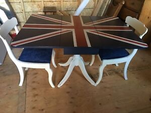 REDUCED Drop Leaf Antique Table and Chair set