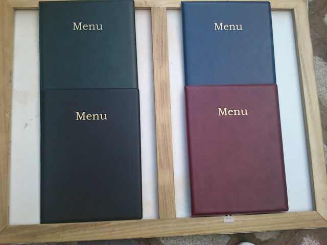 QTY 1 A5 LEATHER LOOK MENU COVER  NEW PRODUCT