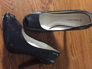 Sparkly/sequinned high heels (size 8.5) $20 obo