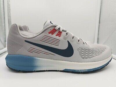 Nike Air Zoom Structure 21 UK 7 Vast Grey Thunder Blue 904695-004