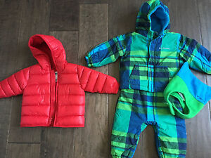 12m Jacket and 2 piece snow suit with a hat