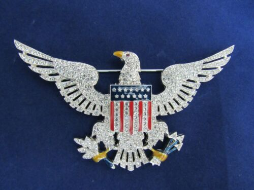 Ann Hand Sterling Silver Federal Eagle Pin 925