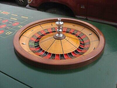 OLD ORIGINAL CASINO GAMBLING GAMBLER ROULETTE WHEEL AND TABLE  H C EVANS
