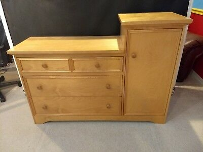 Solid Wood Changing Tables (Baby Changing Table Set w storage + dresser & headboard solid woods)