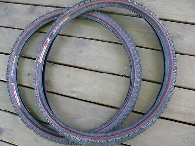 TWO TUBES 2 DURO 26 x 1 3//8 BICYCLE GUM WALL TIRES /& 37-590 2