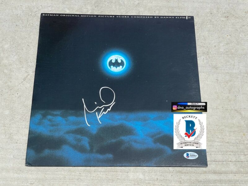 BATMAN SIGNED ALBUM LP MICHAEL KEATON SIGNED  BECKETT BAS COA