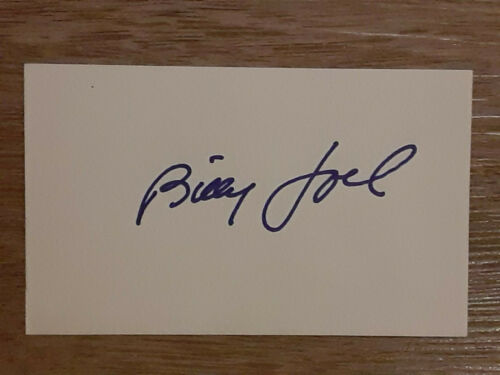 BILLY JOEL MUSICIAN EARLY FULL SIGNATURE AUTOGRAPED SIGNED INDEX CARD 3X5 *RARE*