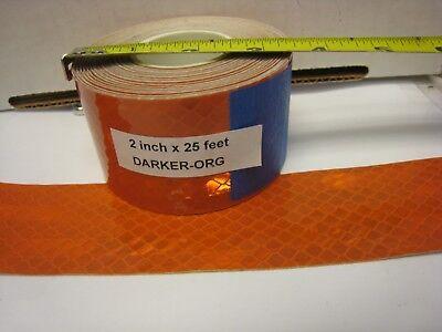 3m Brand Darker Orange Reflective  Conspicuity Tape 2 X 25 Ft