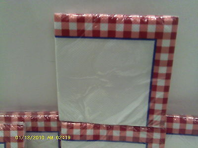 Wholesale lots of 16 Gingham Fun paper napkins](Paper Napkins Wholesale)