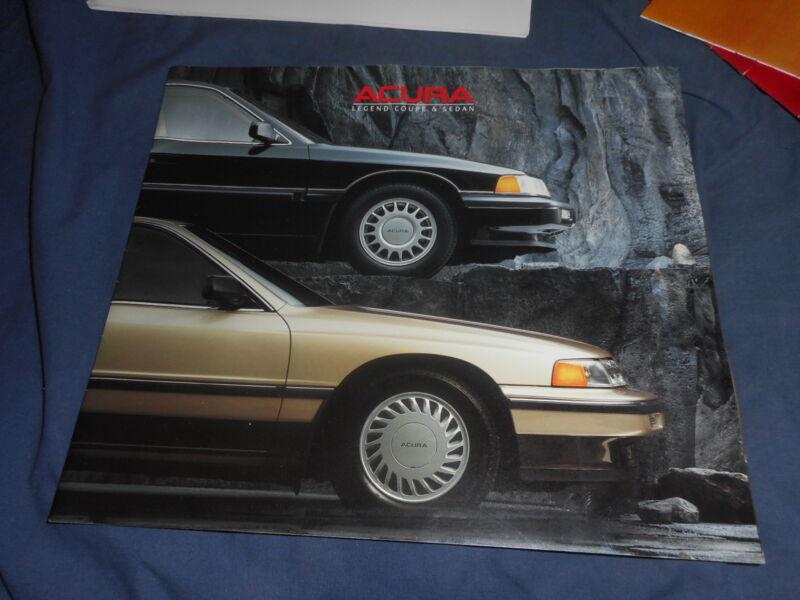 1988 Honda Acura Legend USA Market Brochure Catalog Prospekt