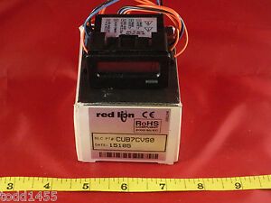 Red-Lion-CUB7CVS0-Counter-High-Input-Reflective-Display-50-250V-AC-DC-5mA-New