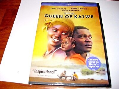 Queen Of Katwe  Genuine Disney  Lupita Nyongo  Dvd 2017  New   I Ship Faster