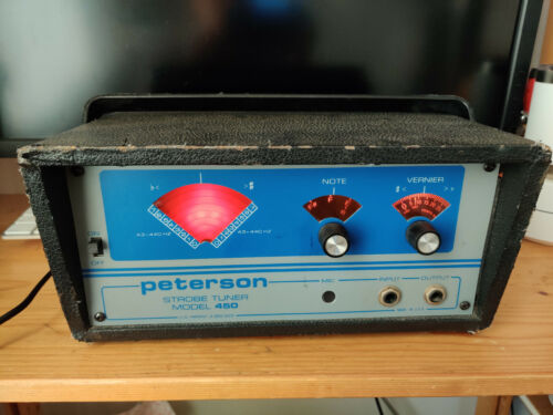 Vintage Peterson 450 Strobe Tuner Guitar With Cord
