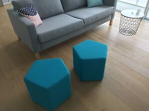 2 x Fabric Ottomans Naremburn Willoughby Area Preview