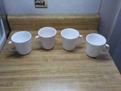 White Corelle coffee mugs D handle