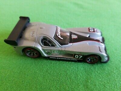 2010 Hot Wheels Speed Machines Panoz GTR-1 Silver LOOSE