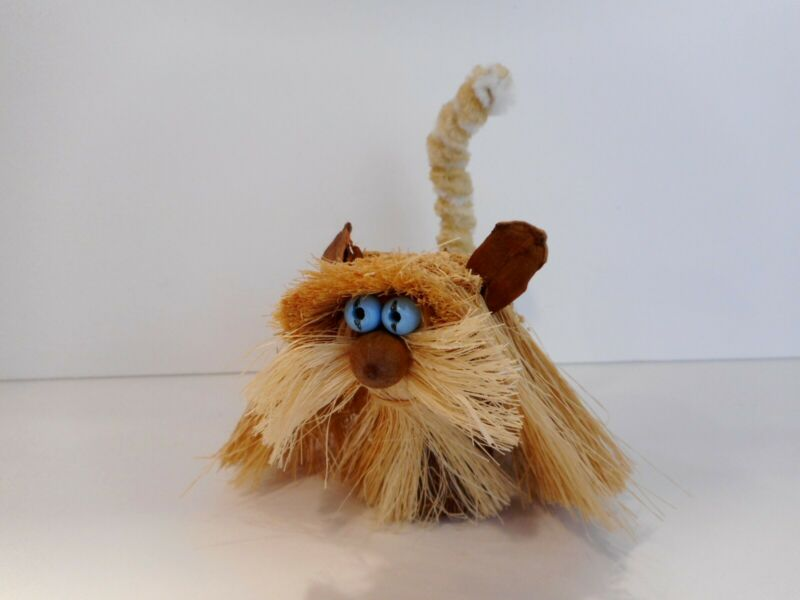 "Scandinavian Style TROLL PET CAT ""5 Arts Studio"" Handcrafted by Danish Family"