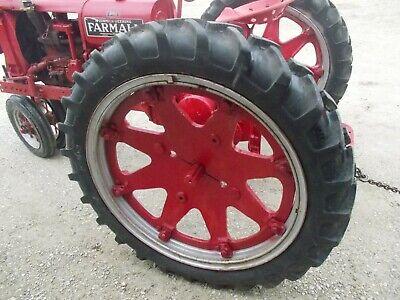 2 9.5 R40 Tractor Rowcrop Radial Tires 99 Tread Ih F14 F12 H Cast Hubs Rims