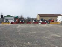 Snow plowing - sanding - salting - snow removal