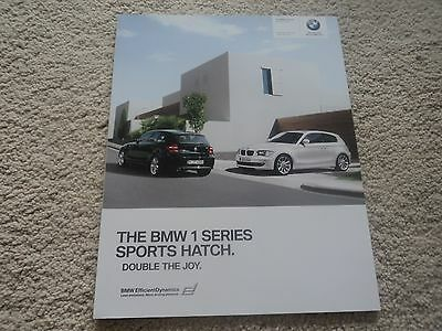 BMW - 1 Series Sports Hatch (Incl M Sports) Brochure  - 2010