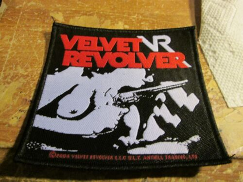 VELVET REVOLVER PATCH  COLLECTABLE VINTAGE WOVEN  ENGLISH PICTURE