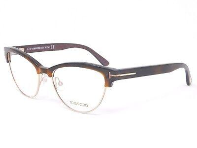 Tom Ford cats eye prescription eyeglass frames FT5365 052 Havana 54-17-140 Rx