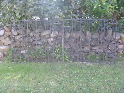 Vintage Wrought Iron Driveway Gates Very Heavy...268cm(8ft 9.5