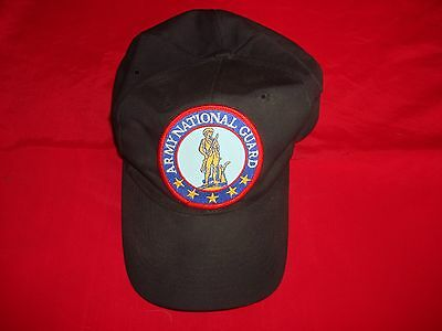 US AIR NATIONAL GUARD Embroidered Insignia Cotton Hat With Adjustable Snapback