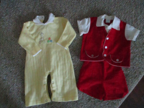 Vintage Baby boy rompers Size 0-3 Months lot