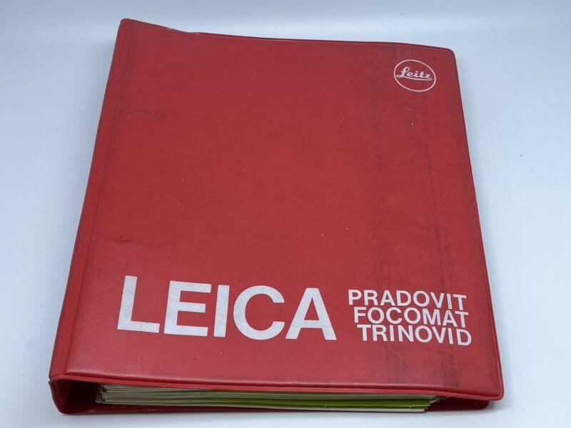 VINTAGE LEICA DEALER SALES CATALOG/BINDER/BOOK REFERENCE.