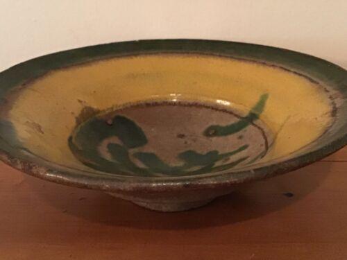 Rare Antique Montiel Family Studio Earthy Majolica Pottery Bowl From Guatemala
