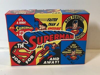 1993 SUPERMAN BOXED SET OF 6 GOLF BALLS D.C. COMICS MIB