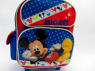 (Disney Mickey Mouse Child Toddler Carry On Wheels Rolling Backpack gently used.)