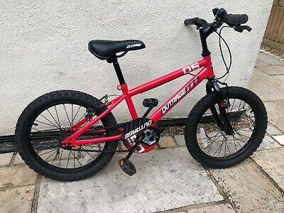 Apollo Outrage Kids Bike 18 Inch Wheel Red plus Cannondale Helmet size S