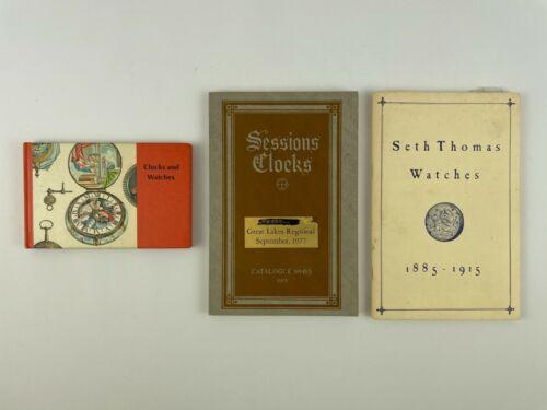 Watch and Clock (3) Catalog Set, Sessions Clocks, Seth Thomas Watches. 205H