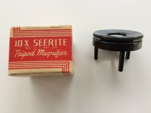 Vintage 10X Tripod Magnifier for Stamps, Coins, Maps and Other Surfaces