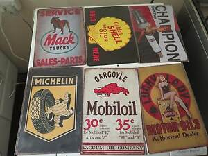 old style mancave signs petrol and more Girrawheen Wanneroo Area Preview