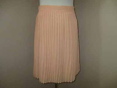 Forever 21 Pleated Knee Length Skirt Peach Blush Size Large NWT