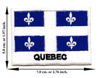 Quebec Flag Travel Country Iron On Patch Sew Applique Embroidered Crafts  for sale  Shipping to Canada