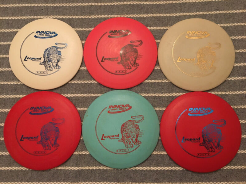Lot of 6 Innova DX Leopard Lightweight Golf Discs
