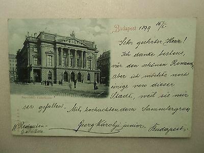 Ansichtskarte Ungarn Budapest 1899 Volkstheater Vollmondkarte