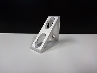 8020 Inc Equivalent Aluminum 4 Hole Inside Corner Gusset 10 Series Pn 4136 New