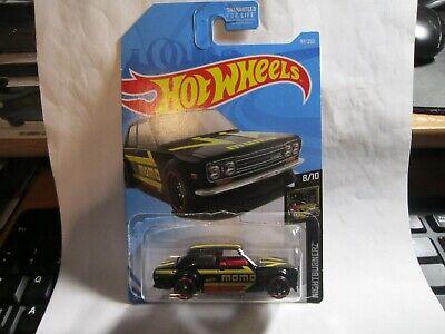 "2019 Hot Wheels Kmart Exclusive Black ""MOMO"" '71 Datsun 510 HW PR5 Wheel Error"