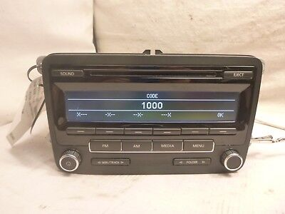 - 11 12 13 Vw Volkswagen Jetta AMFM Radio Cd  Media Satellite 1K0035164D ESC26