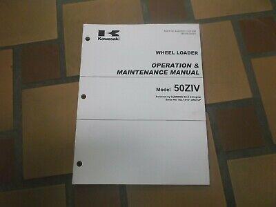 Kawasaki 50ziv Wheel Loader Owner Operator User Guide Maintenance Manual