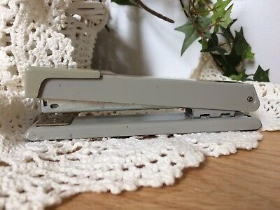 Vintage Swingline 78610 Art Deco Gray Stapler Movable Plate Opens Fully