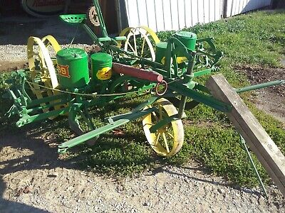 Antique 2 Row John Horse Drawn Corn Planter 999t