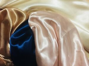 Satin table cloth rental blush, navy blue, champagne gold  RENT