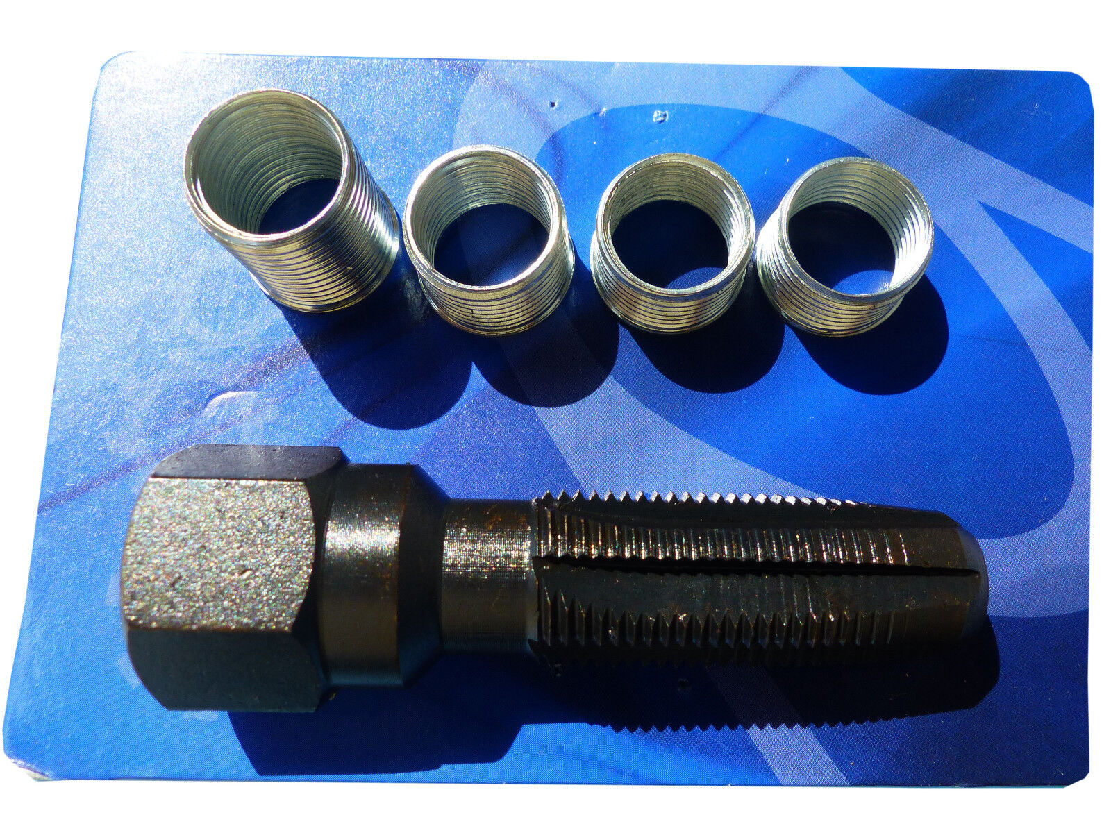 Zündkerzen Gewinde Reparatur M14x1,25 Gewindebuchsen Reparatursatz Gewindebohrer